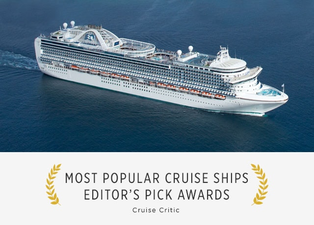 most popular cruise ships editor's pick awards, cruise critic - aerial view of Ruby Princess cruise ship at sea
