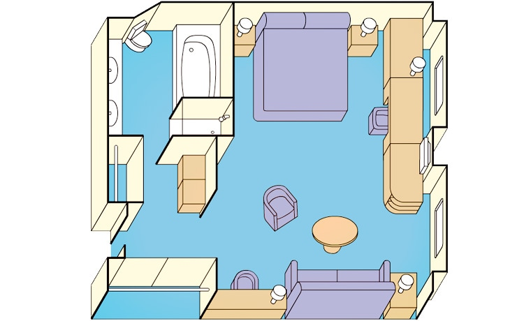 window suite stateroom diagram