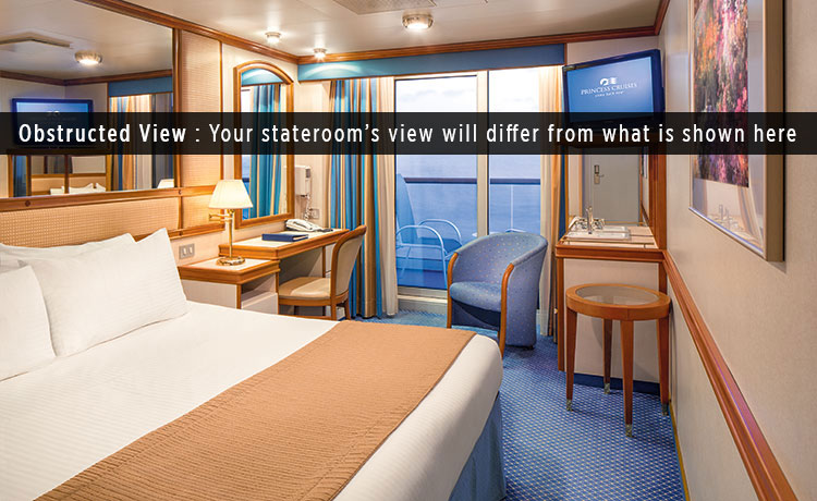 Coral Princess Princess Cruises - What is obstructed view on a cruise ship