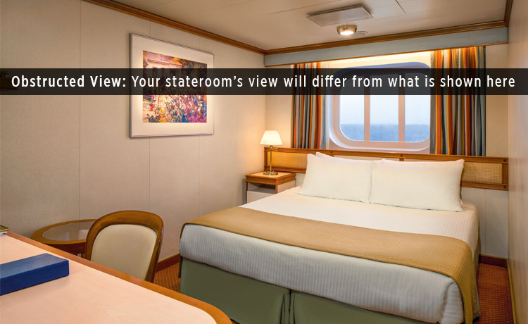 oceanview obstructed stateroom