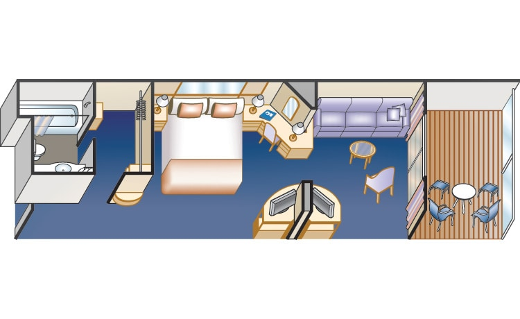 mini-suite with balcony stateroom diagram