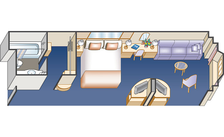 mini-suite without balcony diagram