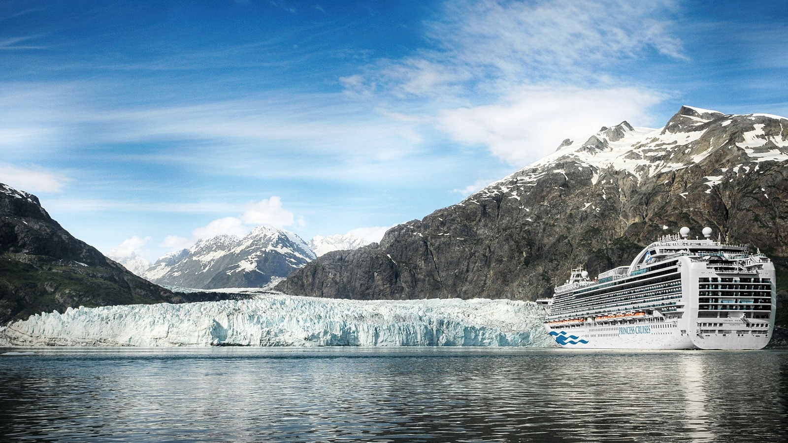 Princess cruise ship on a voyage of the glaciers Alaska cruise