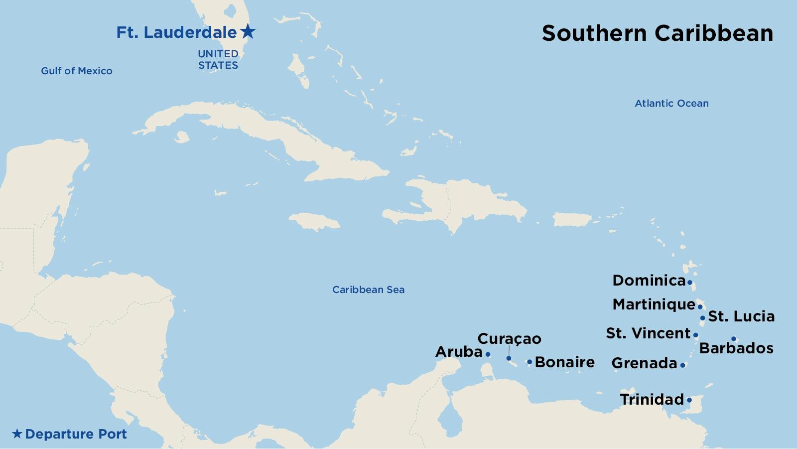 Southern Caribbean Cruises - Cruise to Aruba, St. Thomas, St ...