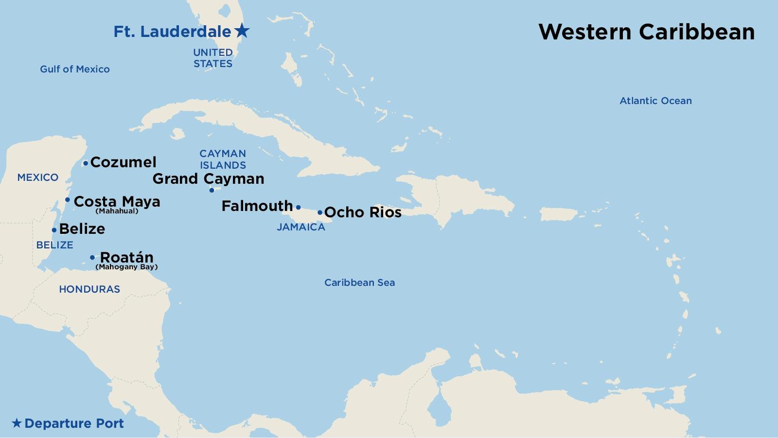 Western Caribbean Cruises - Cruise to Grand Cayman, Cozumel ...