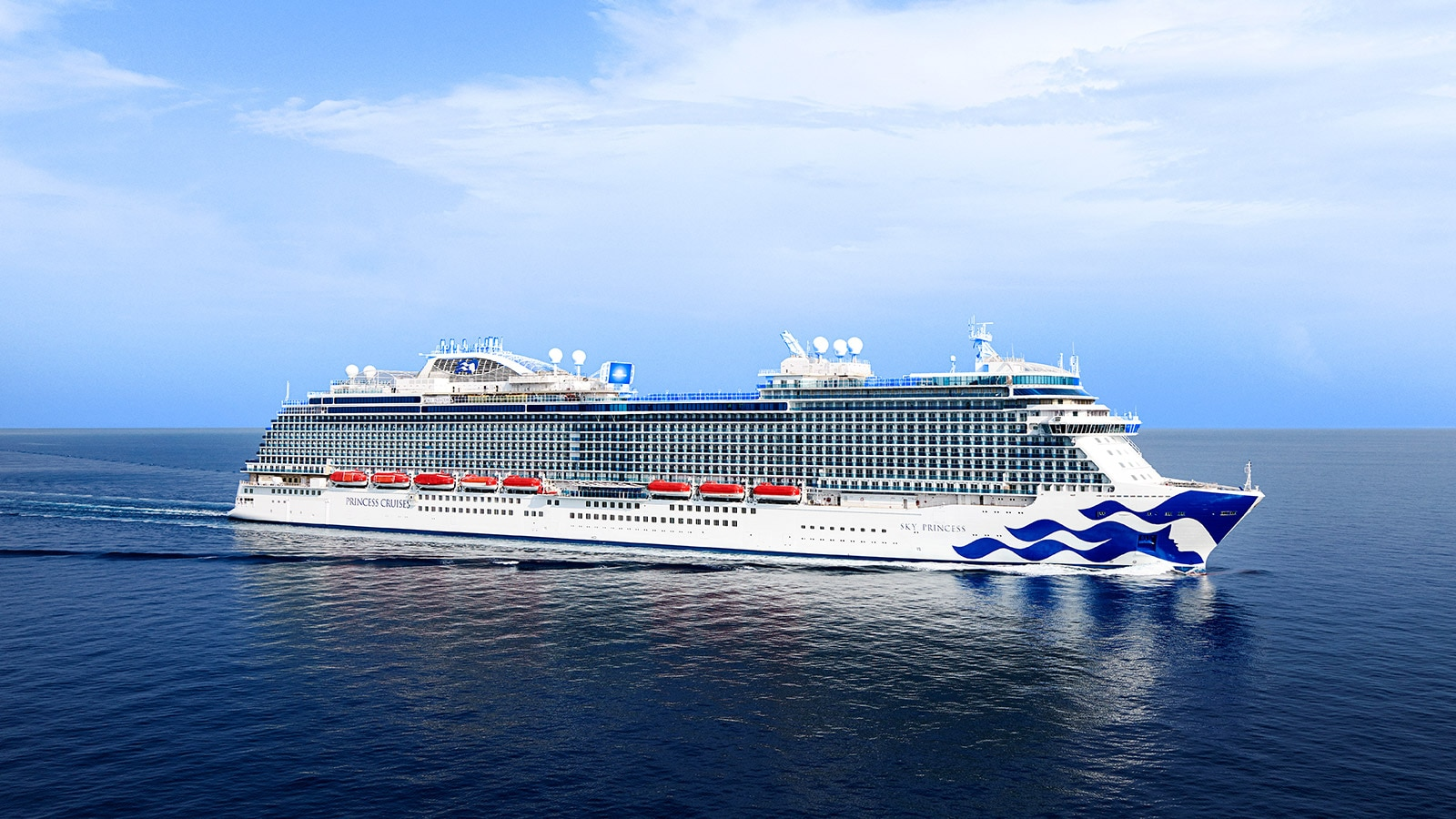 Sky Princess ship at sea