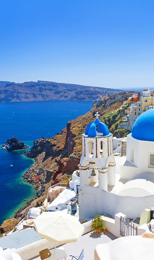 Santorini caldera, Greece