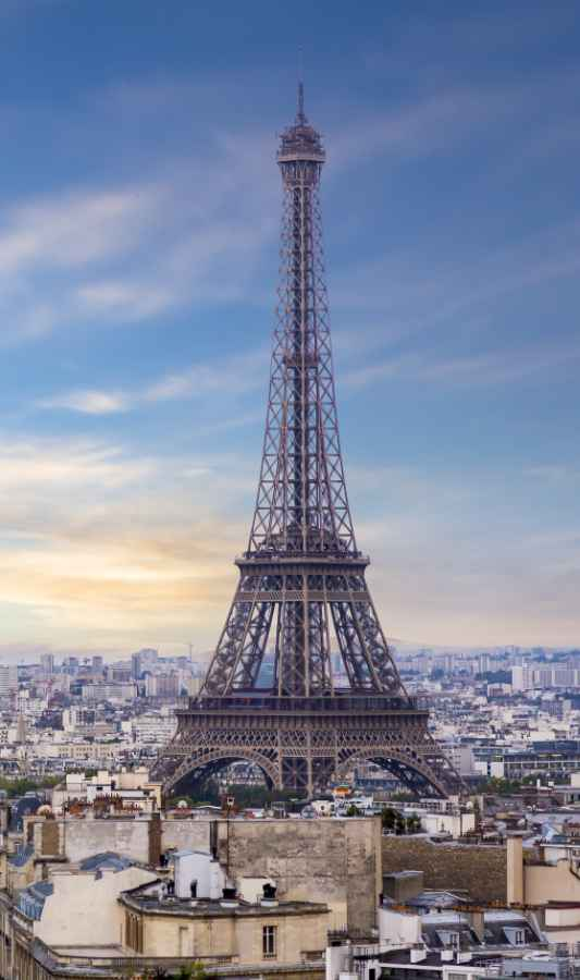 One of the most iconic structures in the world the Eiffel tower