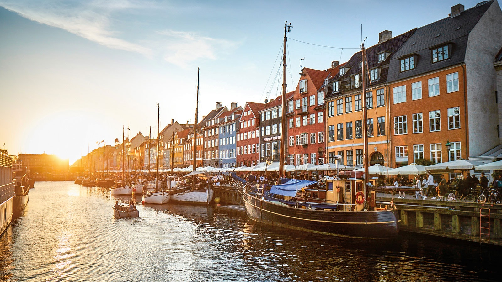 Sightseeing canal in Copenhagen on Europe cruise