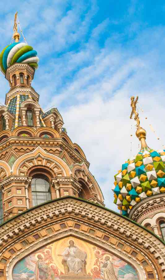 Ornate onion-domed cathedral
