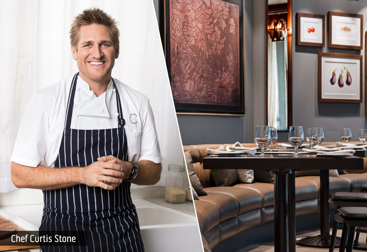 Curtis Stone; Dining room of SHARE by Curtis Stone restaurant