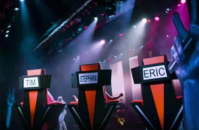 Three chairs with name tags that say Tim, Stephani, Eric.