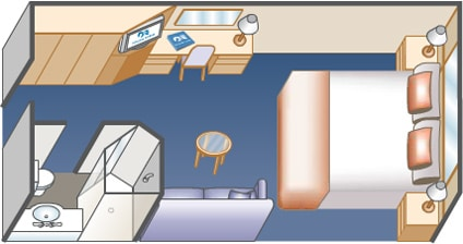 Interior Stateroom Diagram