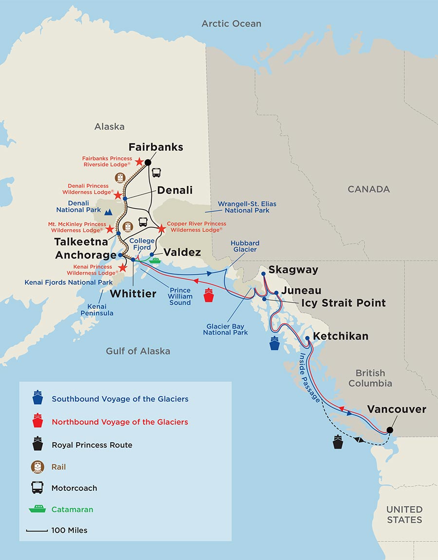 Cruises In Alaska With Train Tour