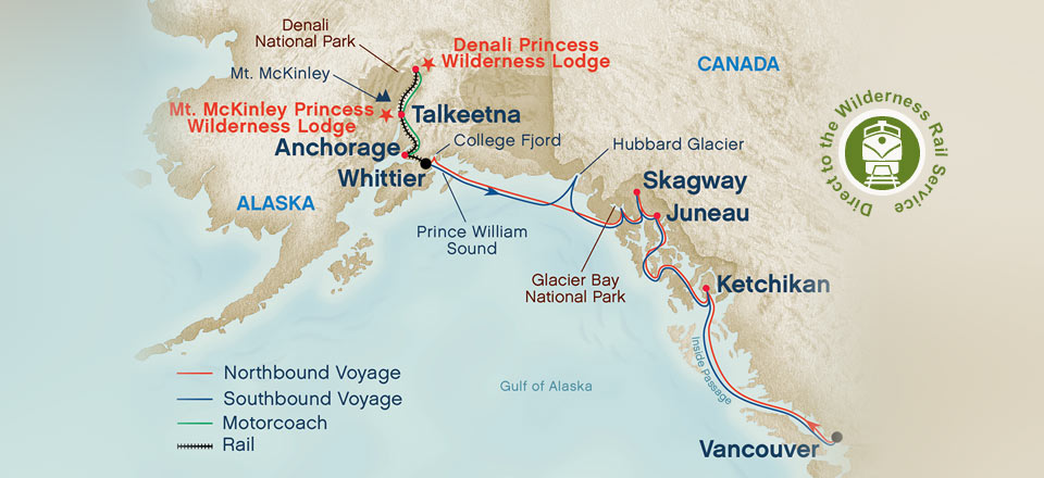 26 Beautiful Map Of Alaska Cruise Ship Routes Fitbudha Com