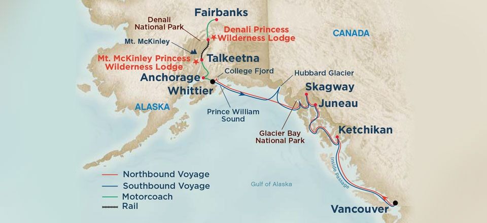 Day Alaska Denali Cruise Tours On Sale From US Special - Mount mckinley on us map