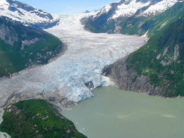 Aerial view of Glacier Bay National Park