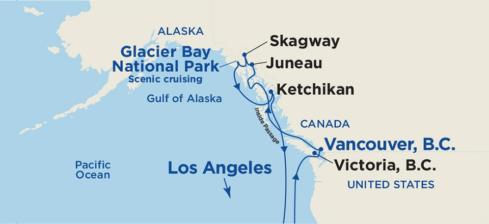 Roundtrip Alaska Cruise From Los Angeles 2019 Princess