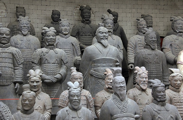 The terracotta warriors in Xian, China