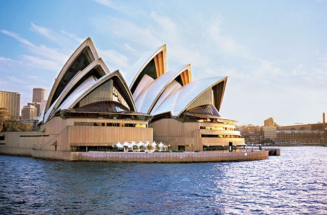 The Sydney Opera House in Sydney Harbour