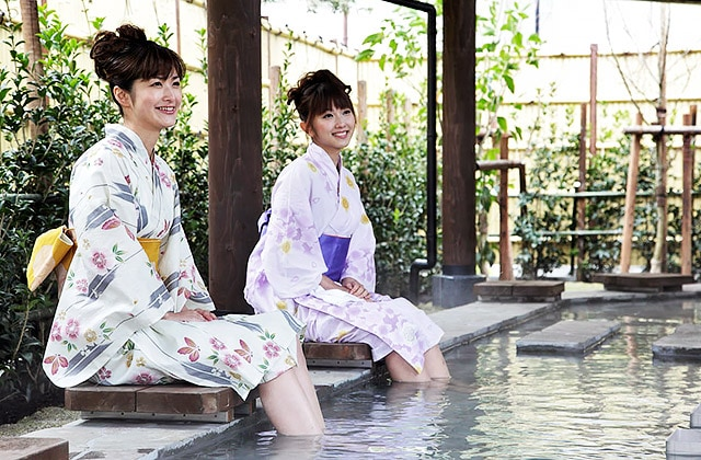 Ashiyu Foot Bath At Japanese Hot Springs In Tokyo