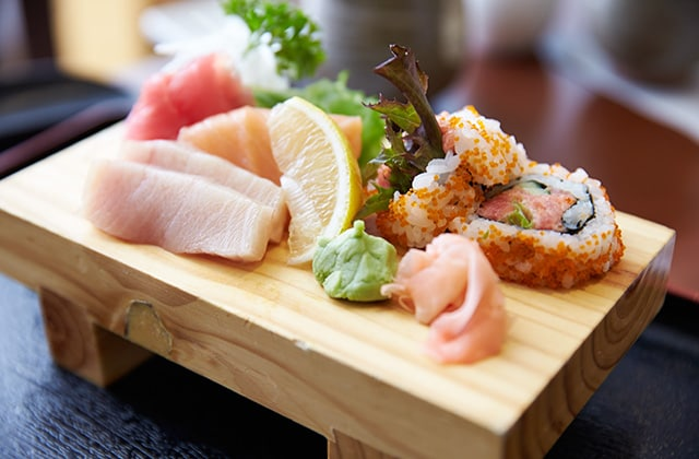 Freshly prepared Japanese cuisine at Kai Sushi