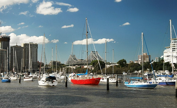 Cruise along the scenic Brisbane River