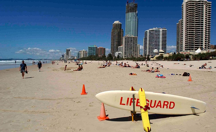 Enjoy Surfers' Paradise, voted one of the best beaches in the world
