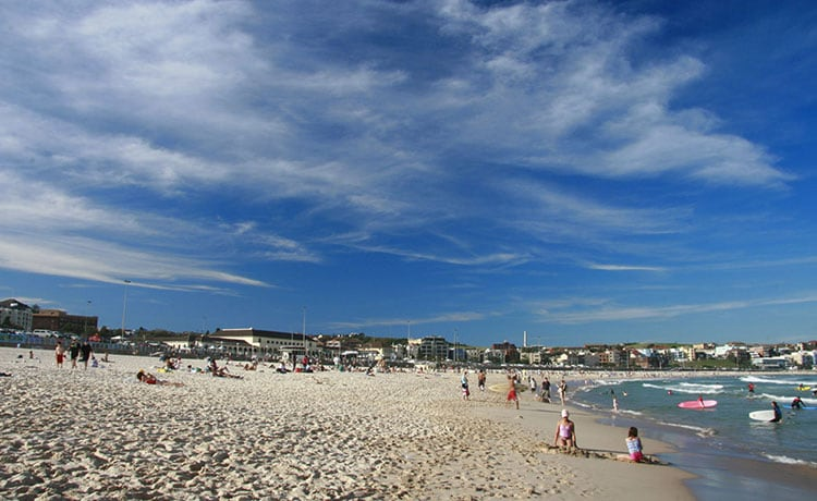 Visit Bondi Beach, one of Sydney's most eclectic precincts and most celebrated beach