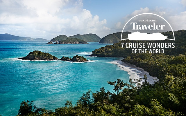Trunk Bay, St John a Cruise Wonder- conde nast travler - 7 cruise wonders of the world