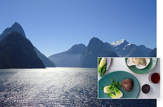 Fiordland National Park, New Zealand inspires Carpetbag Steak