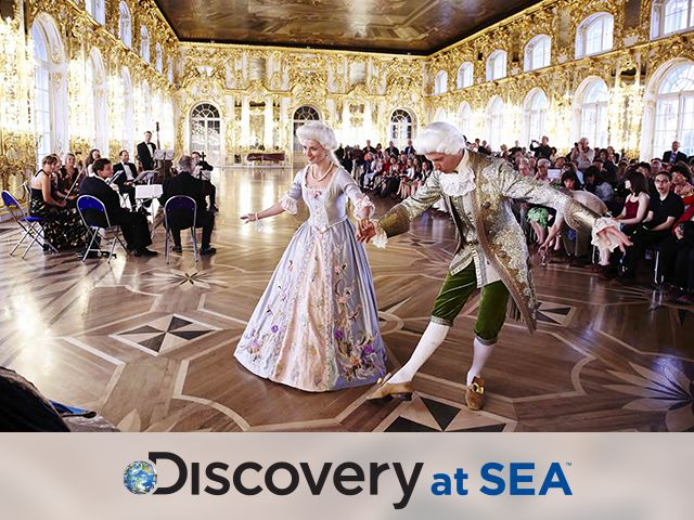 Catherine's Palace, St. Petersburg – Princess Cruises -  with Discovery at sea logo