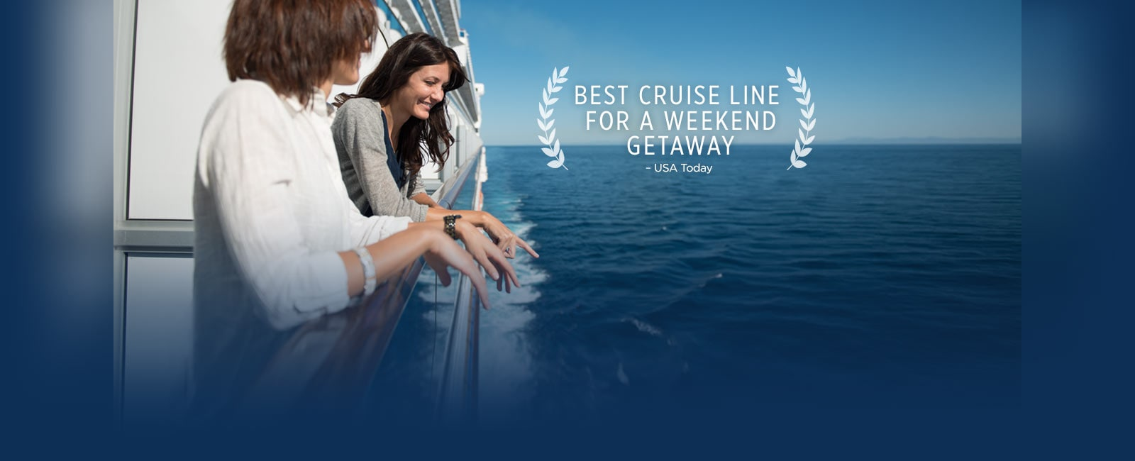 Princess cruises, the best cruiseline for a weekened getaway - women looking out to the ocean from a balcony railing