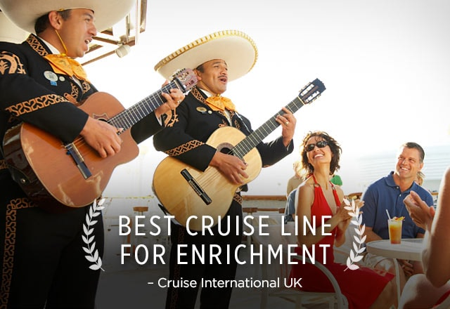 best cruise line for enrichment - cruise international UK award - Live mariachi performers onboard