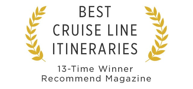 best cruise line itineraries - 13 time winner recommend magazine accolade