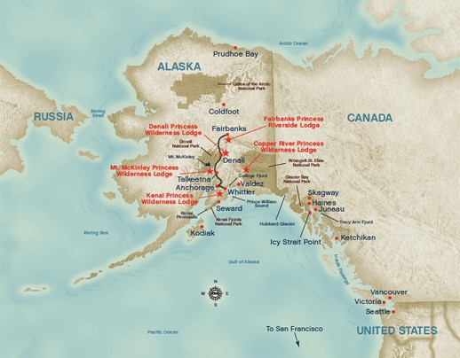 Map Of Alaska Cruise From Vancouver Pictures To Pin On