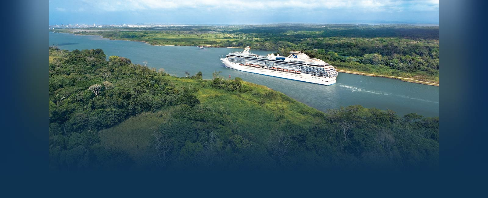 Transiting the Panama Canal on a Princess ship