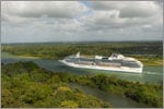 Historic view of the Panama Canal