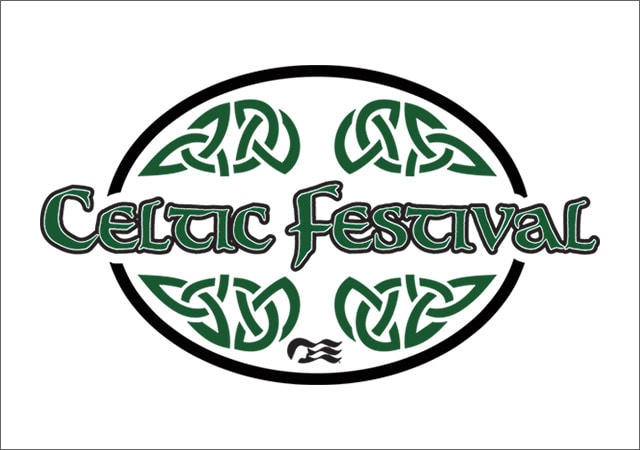Celtic Festival with sea witch logo.