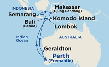 Indonesia Roundtrip from Fremantle, Australia