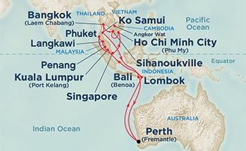 Australia & Asia Roundtrip from Fremantle, Australia
