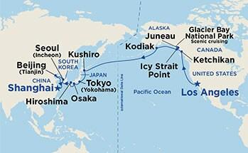 为期60天的环北太平洋航次将带领宾客探访21个精彩纷呈的港口和目的地