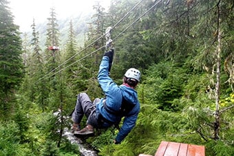Alaska Zipline Adventure & Axe Throwing Enlarged image 1