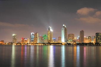 San Diego City Lights By Night Enlarged Image 1