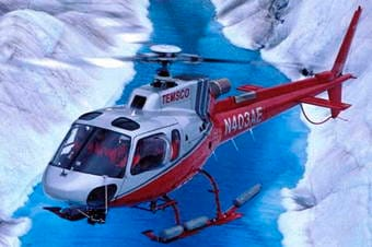 Glacier Discovery by Helicopter