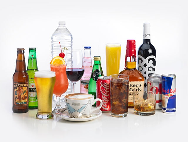 A variety of beverages included with the all-inclusive beverage package from Princess Cruises & Beverage u0026 Drink Packages - Princess Cruises