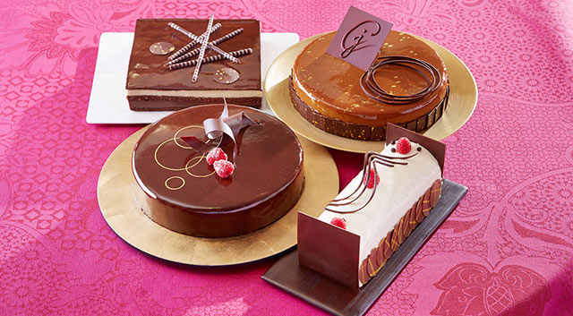 Chocolate cakes and pastries by Norman Love