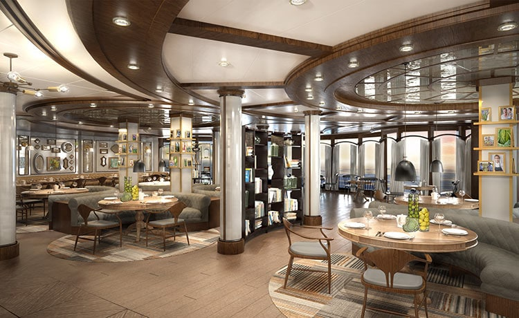 Concept image of SHARE Restaurant onboard Ruby & Emerald Princess
