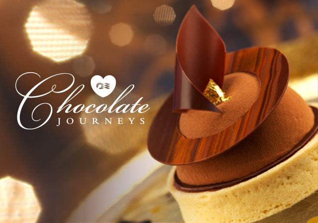 Chocolate Journey's logo with artfully designed chocolate dessert