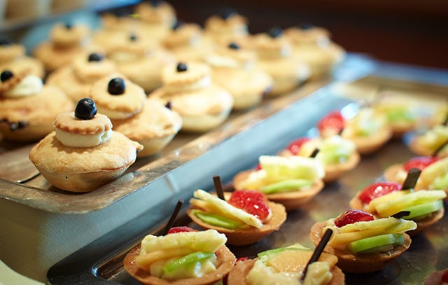 Trays of mini-pastries